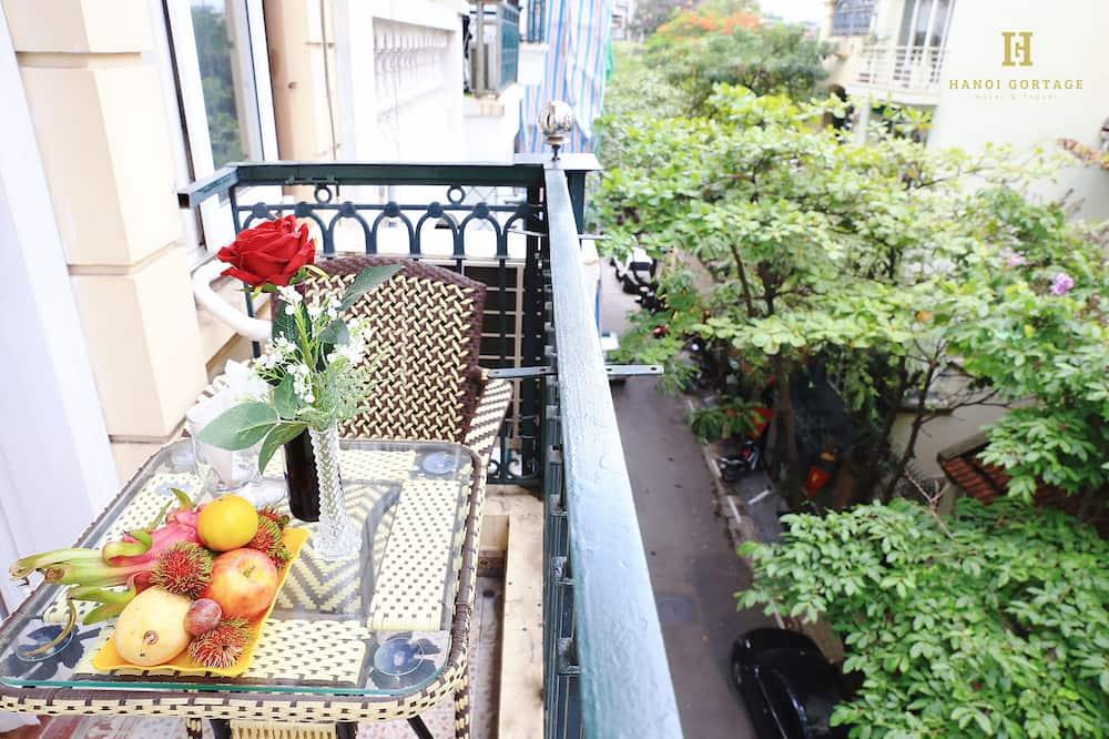 Familienzimmer, Balkon - Blick vom Balkon