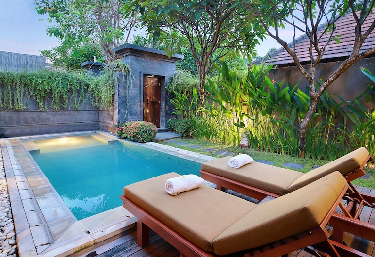 Nyuh Bali Luxury Villas, Seminyak, Suíte lua de mel (Villa with Honeymoon Decoration), Quarto
