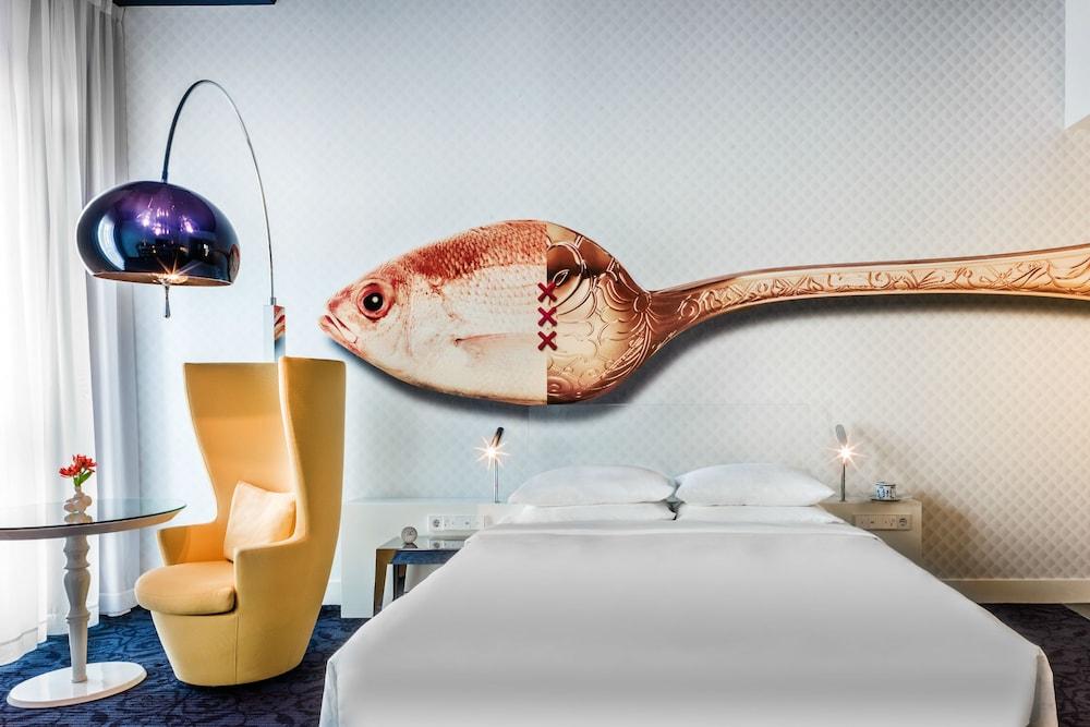 Andaz Amsterdam Prinsengracht - a concept by Hyatt, Amsterdam, Deluxe-rom, 1 kingsize-seng, utsikt mot hage (Large), Gjesterom