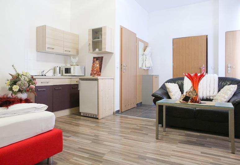 Queens Apartments, Viena, Estúdio, Cozinha americana (including Housekeeping), Área de estar
