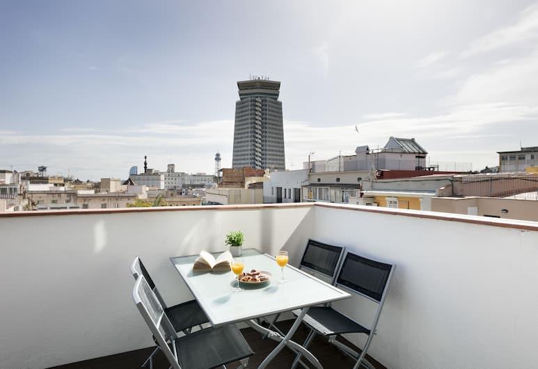 Aspasios Las Ramblas Apartments , Barselona, Çatı Katı Süiti (Penthouse), 1 Yatak Odası, Teras, Teras/Veranda