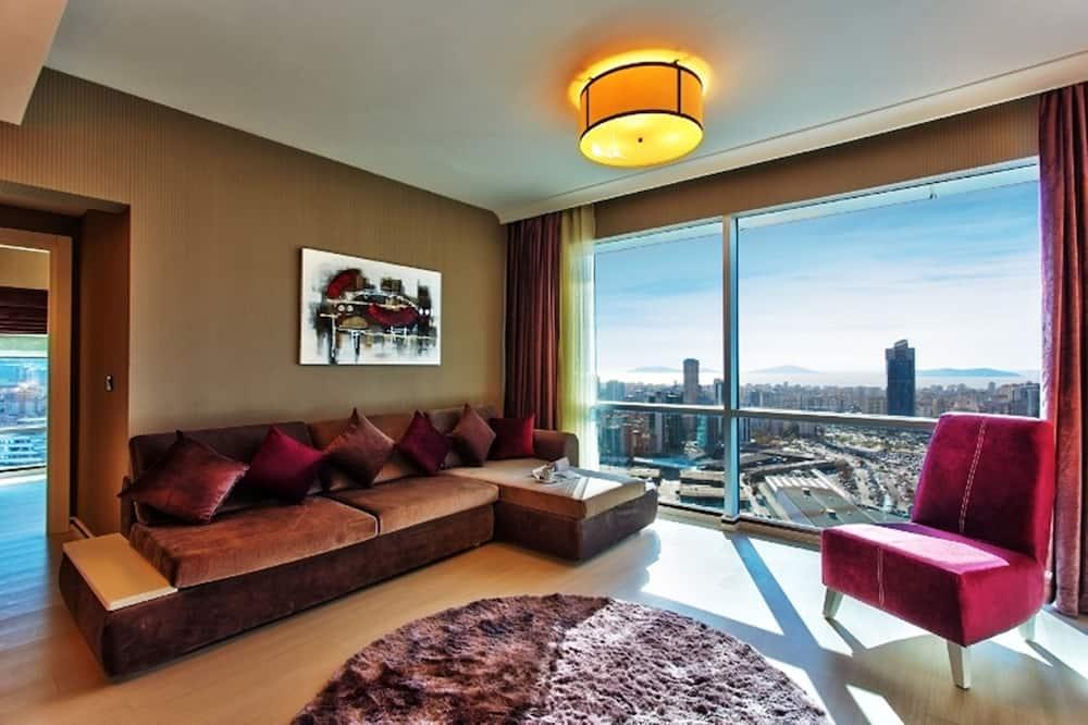 Панорамный люкс - Зона гостиной