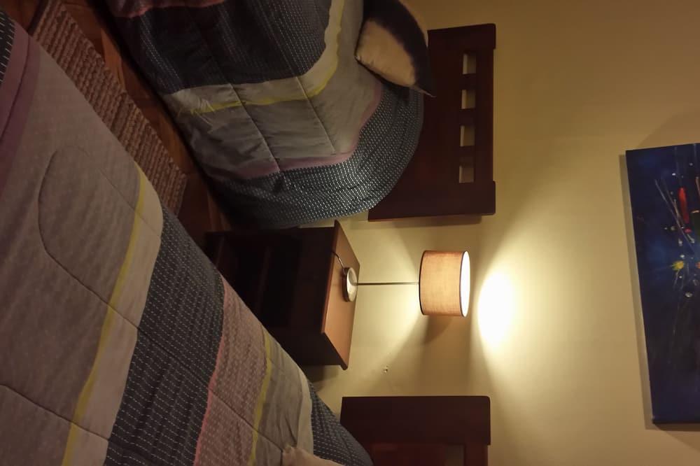 スタンダード ルーム ダブルベッド 1 台 共用バスルーム - 客室