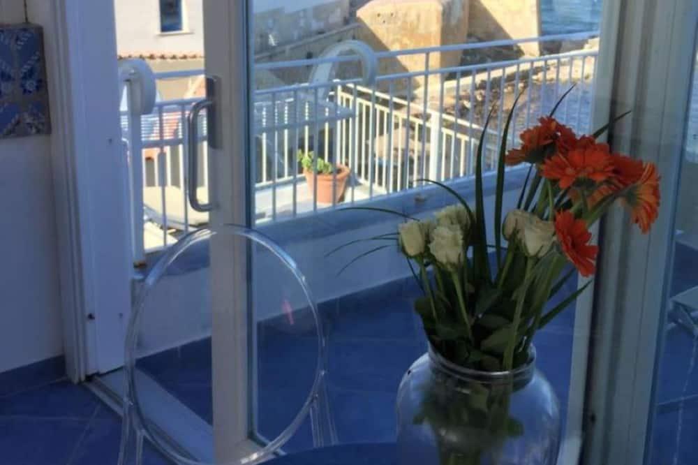 Dúplex, 1 habitación, terraza, vista al mar - Sala de estar