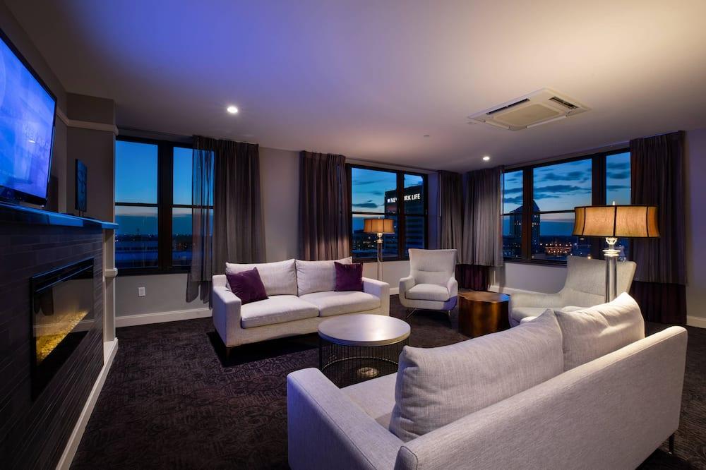 Suite u centru, 1 spavaća soba, za nepušače, pogled na grad - Soba za goste
