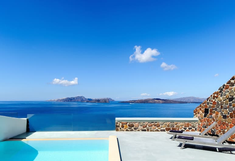 Ambassador Aegean Luxury Hotel and Suites, Santorini, Honeymoon Suite, Private Pool (Infinity), Balcony View