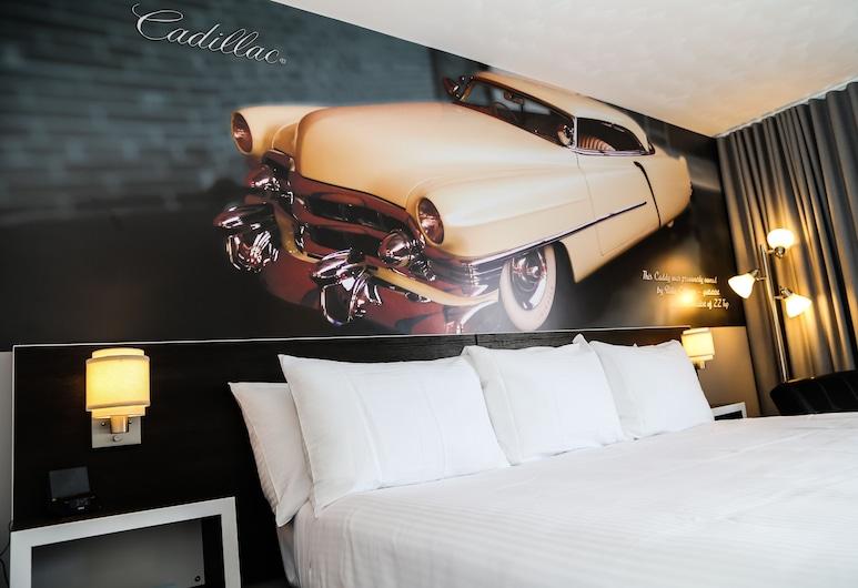 Cadillac Motel, Niagara Falls, Zimmer, 1King-Bett, Zimmer