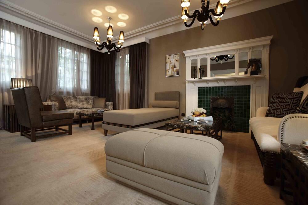 Villa Deluxe, Vue jardin (4 bedroom) - Coin séjour