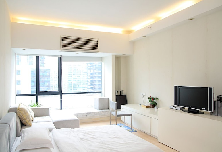 Private-Enjoyed Home ApartHotel - R&F Stanley Apartment, Guangzhou, Dnevna soba