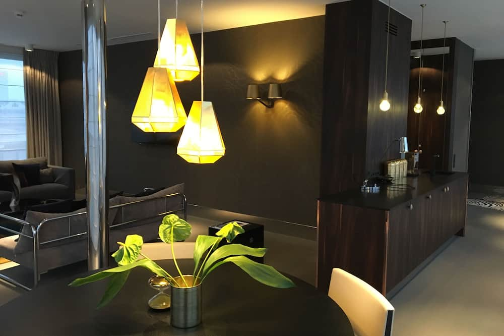 Panoramic-Penthouse, 1 Schlafzimmer - Wohnzimmer