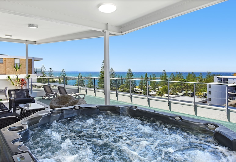 Macquarie Waters Boutique Apartment Hotel, Port Macquarie, Außen-Whirlpool
