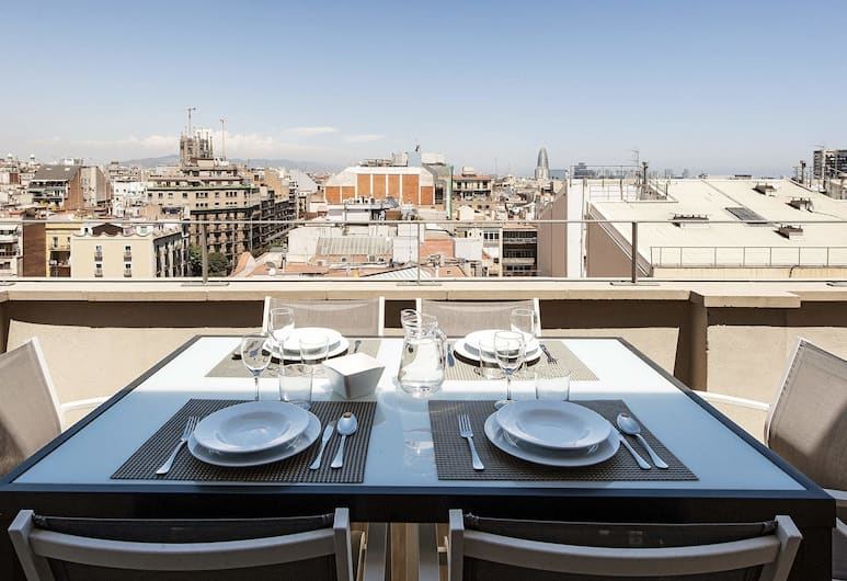 Arago312 Apartments, Barcelone, Penthouse, 3 chambres, vue ville (4-6 adults), Terrasse/Patio