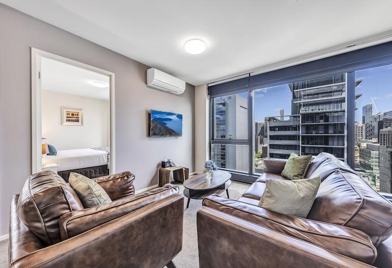 Pegasus Apart'Hotel, Melbourne, Apartamento executivo, 2 quartos, Área de estar