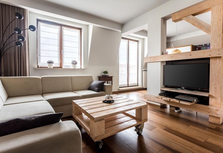 Elite Apartments Garbary Old Town, Poznanė, Standartinio tipo apartamentai, 2 miegamieji, Svetainės zona