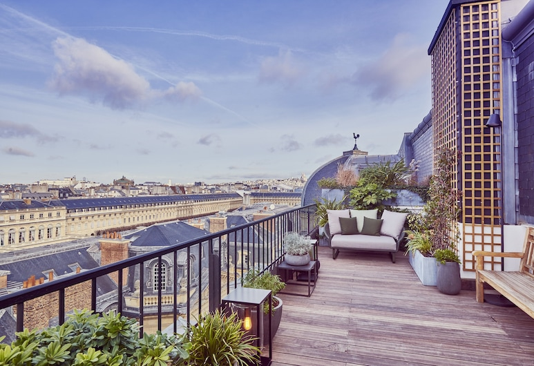Grand Hotel du Palais Royal, Paris, Panoramic Suite, Terrace, Balcony View