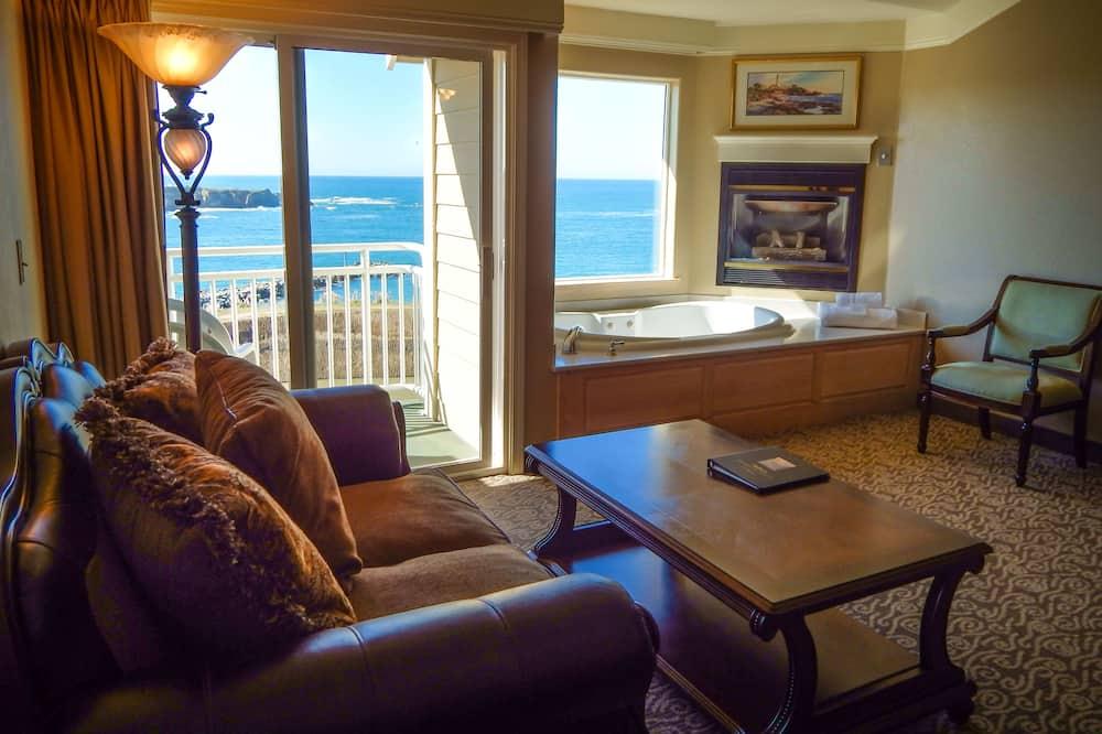 Улучшенный люкс, 1 двуспальная кровать «Кинг-сайз», вид на океан - Номер