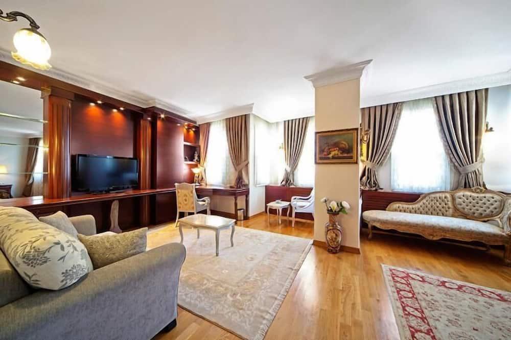 Dvojlôžková izba typu Superior, súkromná kúpeľňa - Obývačka