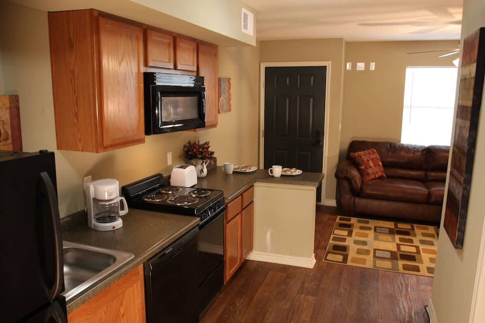 Suite, 2 lits une place, accessible aux personnes à mobilité réduite, cuisine - Coin séjour