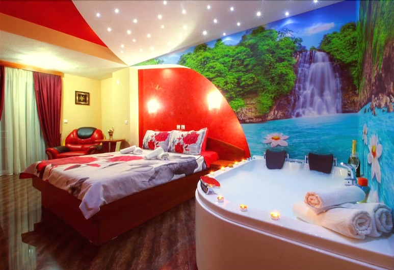 迪斯麗維斯基別墅飯店, Ohrid, 奢華開放式套房, 1 張特大雙人床, 客房