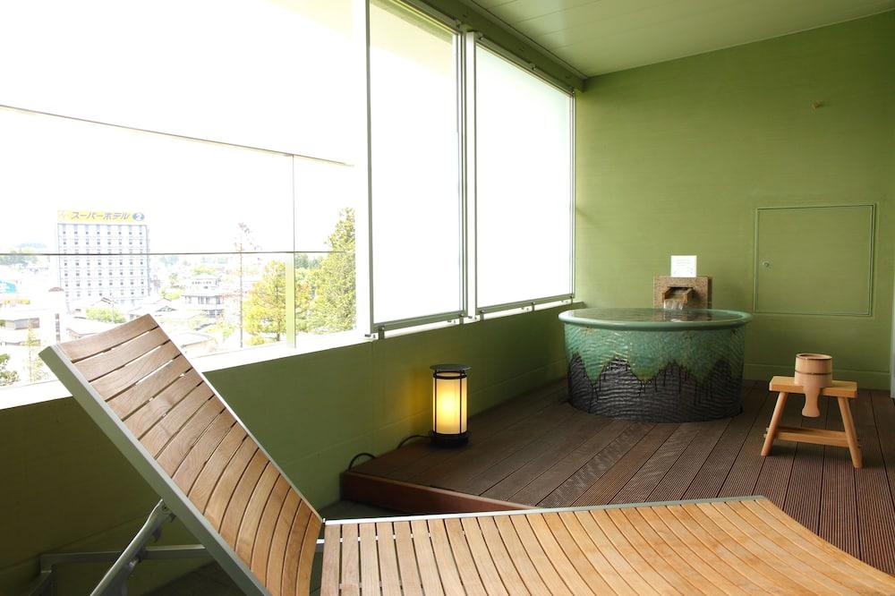套房, 2 張加大雙人床, 熱水浴缸, 山旁 (Outside Tub with Mt. Fuji View,Buffet) - 露台