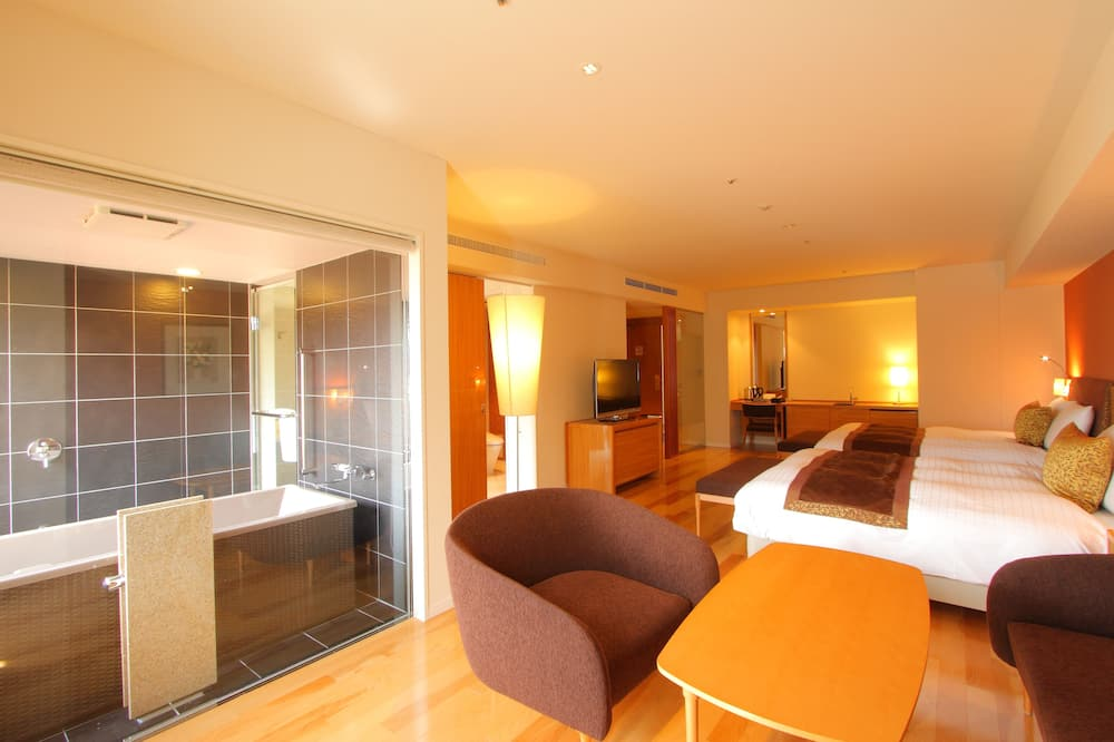 套房, 2 張加大雙人床, 熱水浴缸, 山景 (Mt. Fuji View, with Breakfast Buffet) - 浴室