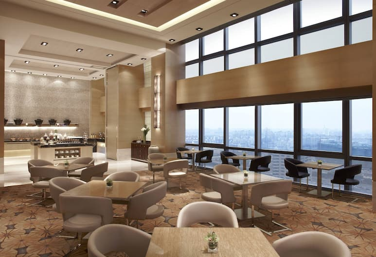 Shanghai Marriott Hotel Pudong East, Shanghai, Executive Room, 1 King Bed, Business Lounge Access, Hotel Bar