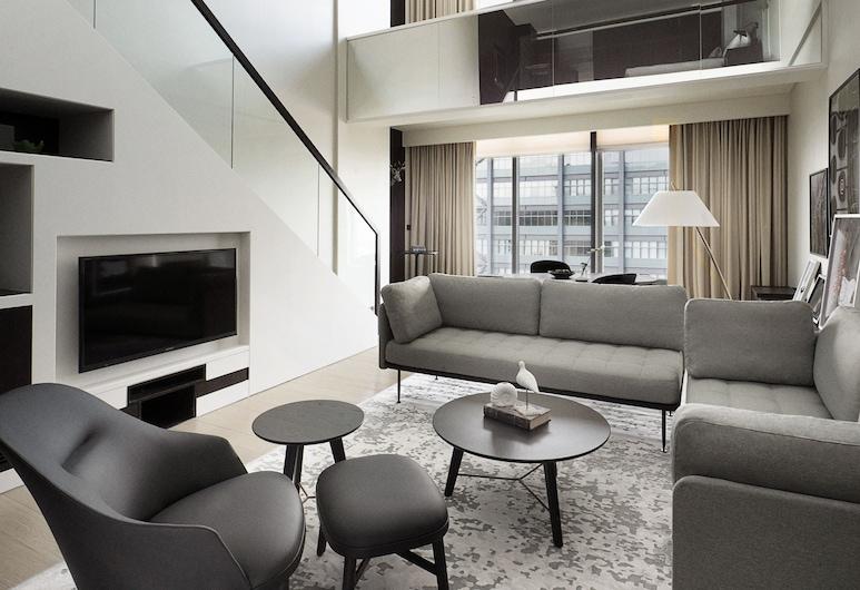 Hotel Indigo Hsinchu Science Park, Hsinchu, Kaksikerroksinen huoneisto, 1 suuri parisänky (Suite), Vierashuone
