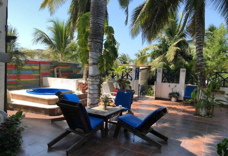 Hotel Auaecoco, Cartagena, Terrasse/Patio