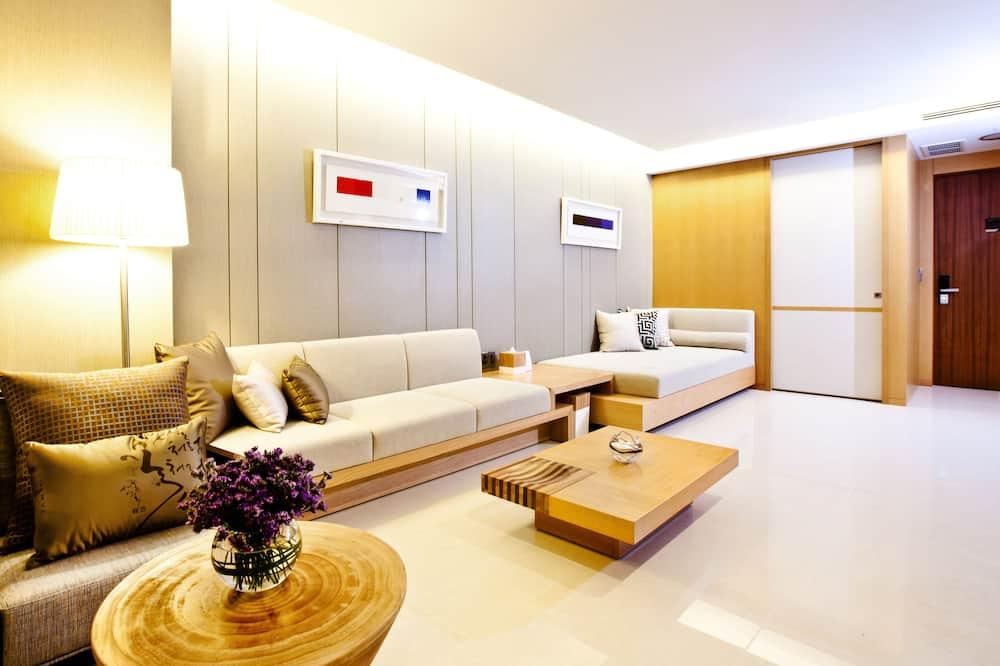 타워 스위트 - 체크인시 침대유형 랜덤 배정 (무료 미니바 포함) - 거실 공간