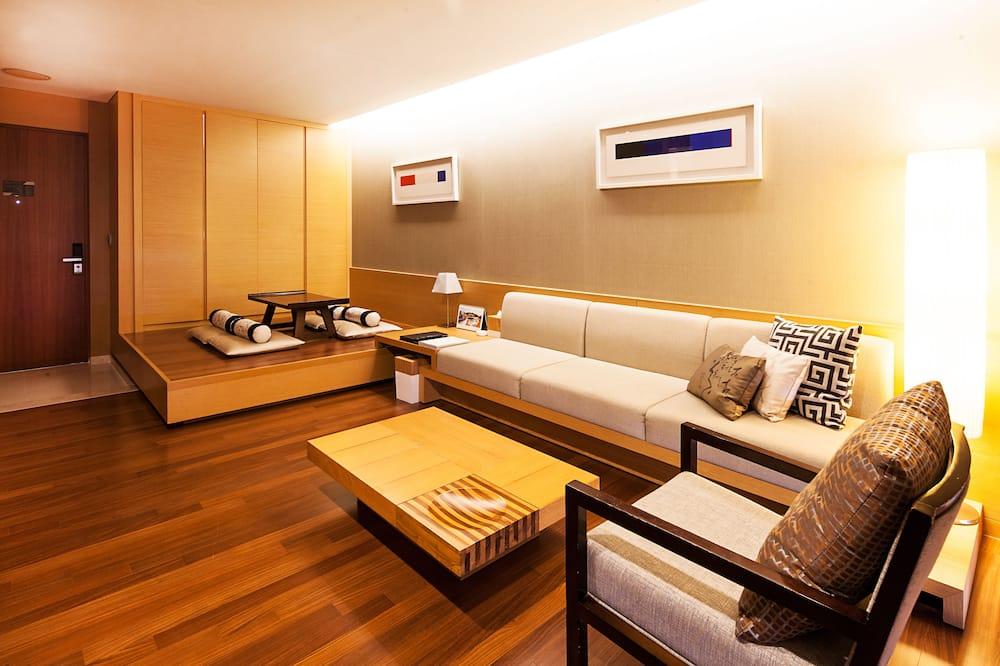 [Suite Lounge] 파밀리에 스위트 - 이그제큐티브 라운지 2인+미니바 포함 (체크인시 침대유형 랜덤 배정) - 거실