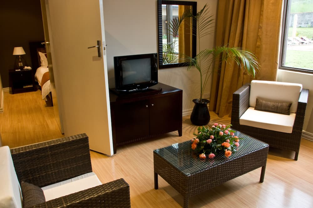 Room, 1 King Bed, Mountain View - Living Area