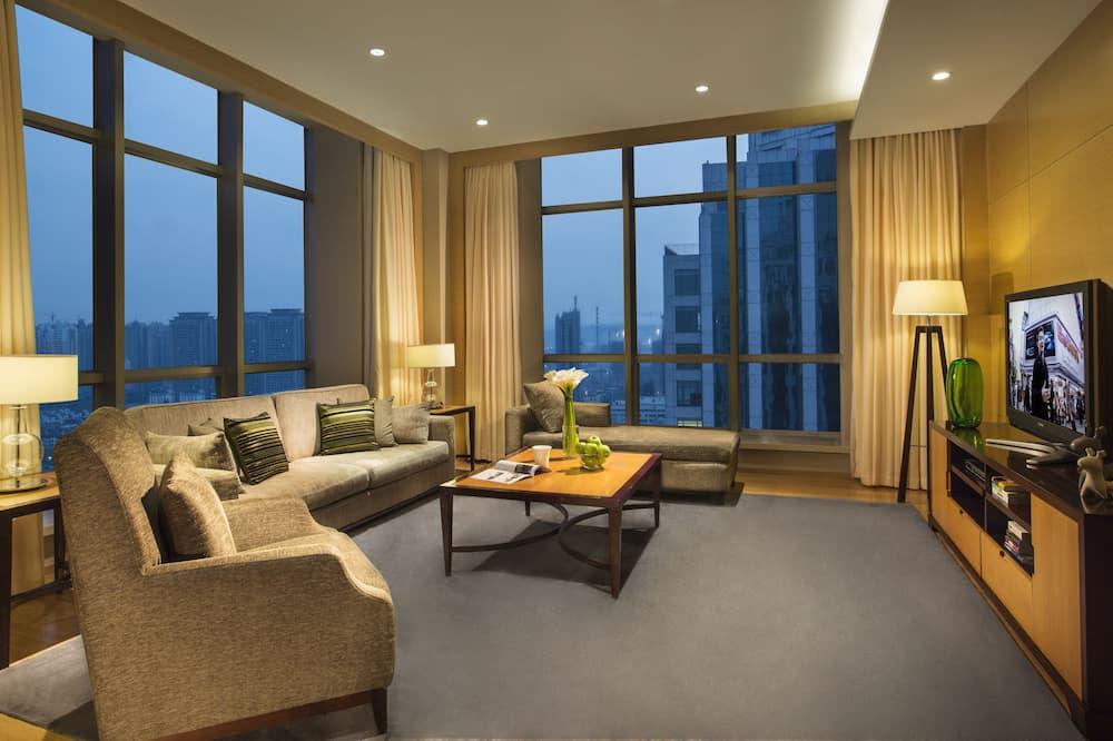 Deluxe apartman, 1 hálószobával, konyha, kilátással a városra - Szoba