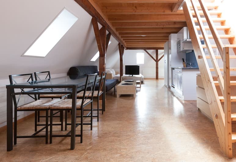 Apartments Swiss Star Sihlfeld, Zurich, Deluxe Apartment, Ruang Tamu
