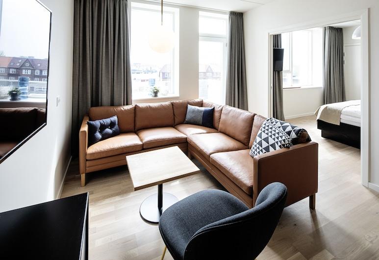 Kompas Hotel Aalborg, Aalborg, Suite, 1 habitación, bañera, Habitación