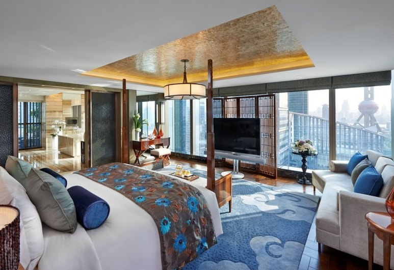 Mandarin Oriental Pudong Shanghai, Shanghai, Mandarin, Room, 1 King Bed, Guest Room View
