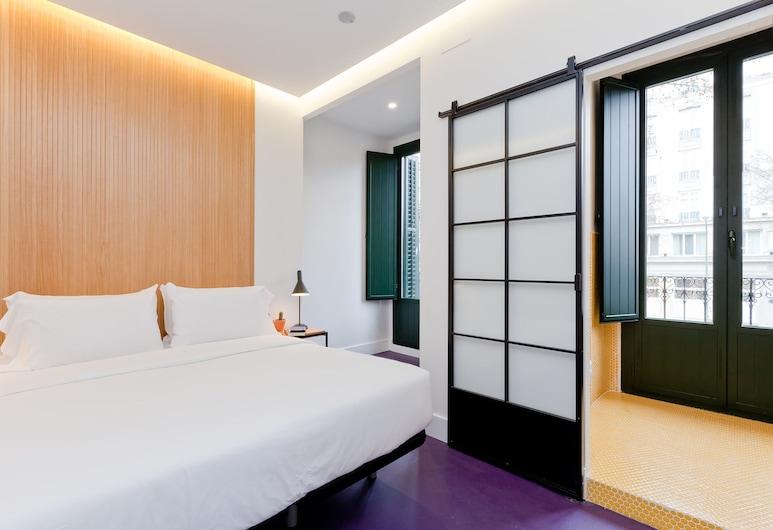 SLEEP'N Atocha – B Corp Certified, Madrid, Habitación doble, balcón, Habitación