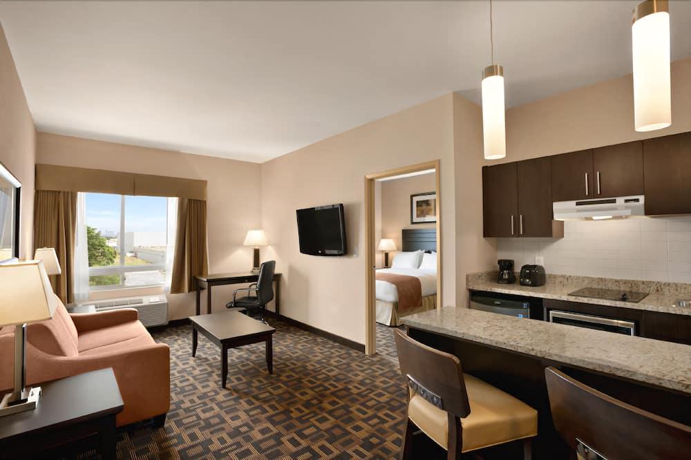 Suite, 1King-Bett, Nichtraucher (One-Bedroom) - Wohnbereich
