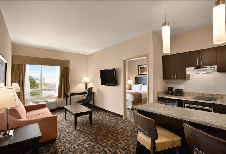 Days Inn & Suites by Wyndham Winnipeg Airport Manitoba, Winnipeg, Suite, 1 King Bed, Non Smoking (One-Bedroom), Living Area