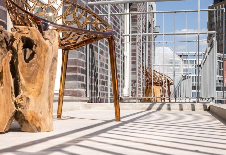 몬드리안 스위트 베를린 체크포인트 찰리, 베를린, 컴포트 스튜디오 (Balcony or Terrace), 발코니