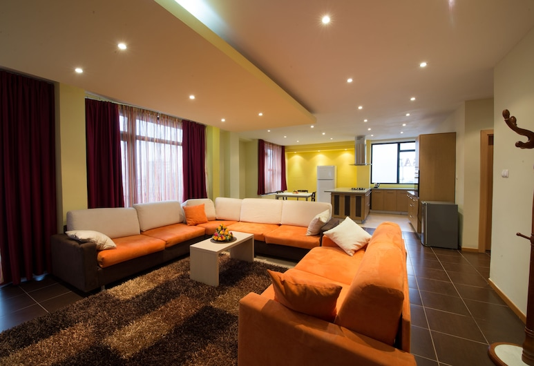 Reliance Hotel Apartment, Addis Ababa, Classic Suite, 2 Bedrooms, City View, Ruang Tamu