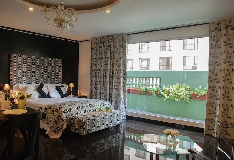 Moreno 820 Design Apartments, Buenos Aires, Loft Superior, 1 cama king-size, Cozinha, Vista Cidade, Quarto
