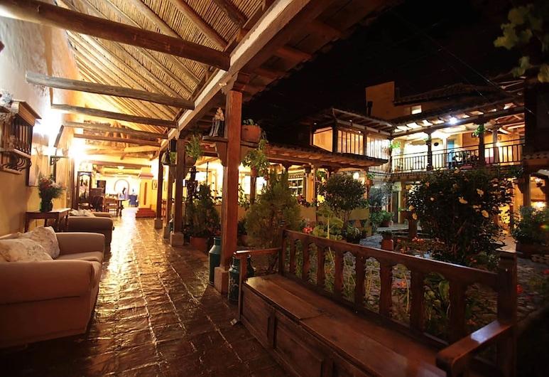 Hotel La Posada de San Antonio, Villa de Leyva, Terassi/patio