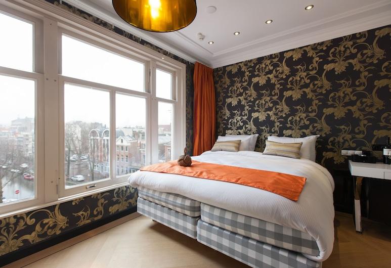 더 암스테르담 카날 호텔, 암스테르담, 디럭스룸, 킹사이즈침대 1개, 운하 전망, 객실