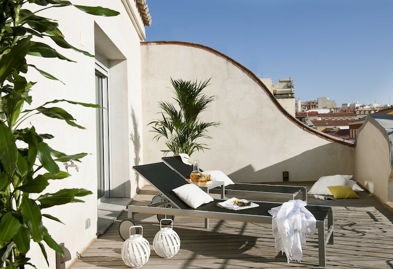Eric Vökel Boutique Apartments - Madrid Suites, Madrid, Apartment, 2 Schlafzimmer (Attic For 2 People), Terrasse/Patio