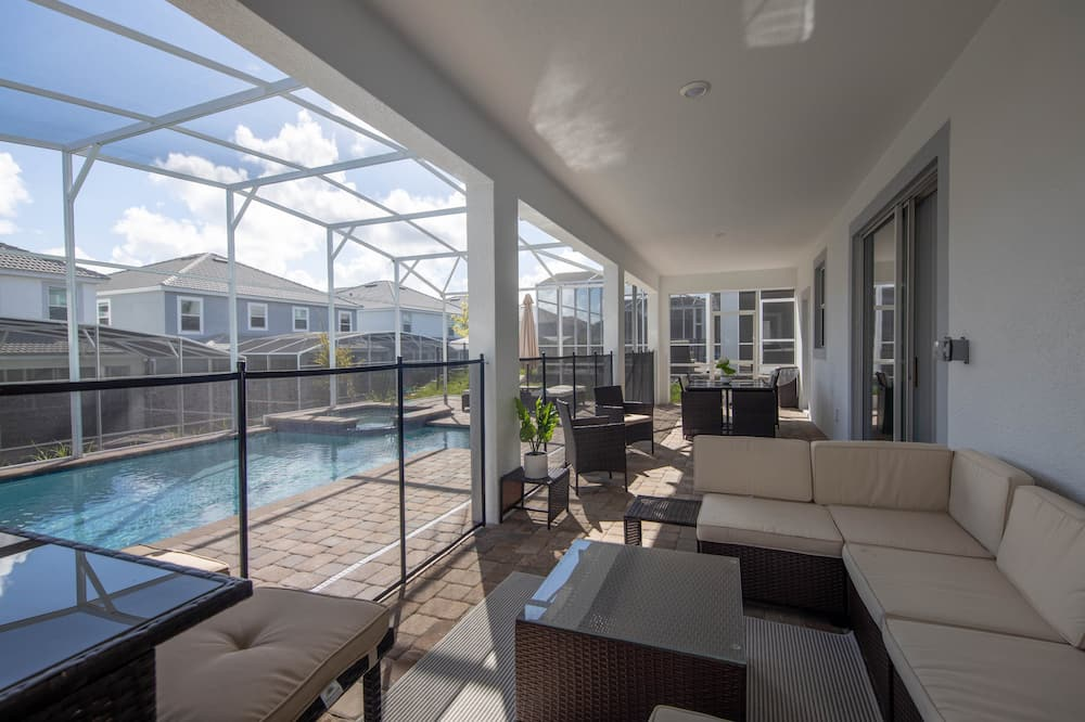 Casa, Varias camas, piscina privada, vista a la piscina - Alberca