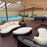 Hytte – premium, privat bad - Svømmebasseng