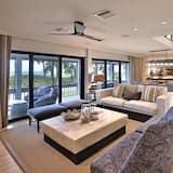 Casa, Varias camas, piscina privada, vista al mar - Sala de estar
