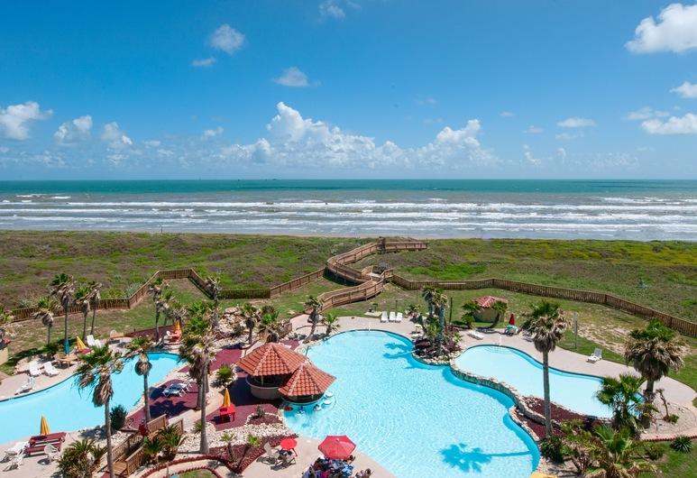 Gulf-front Getaway 3 Pools & Spa Steps To Sand 2 Bedroom Condo, Port Aransas, Condominio, 2 habitaciones, Piscina
