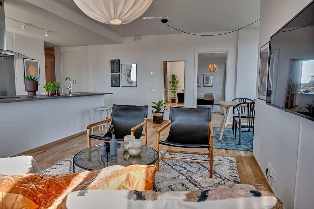 Departamento de lujo, 2 habitaciones, balcón - Sala de estar