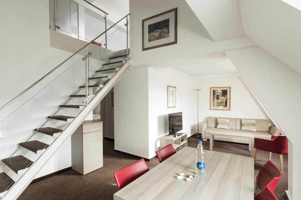 Appartement Duplex Supérieur, 3 chambres, non-fumeurs, coin cuisine - Coin séjour